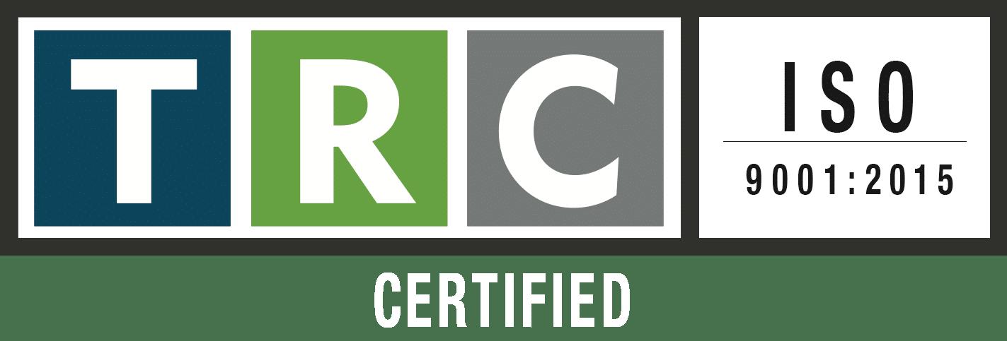TRC ISO 9001 LOGO WHITE